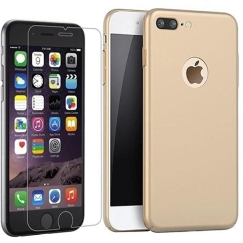 KılıfShop Apple iPhone 7 Plus Soft Touch Tam Koruma Kılıf + Kırılmaz Cam Ekran Koruyucu