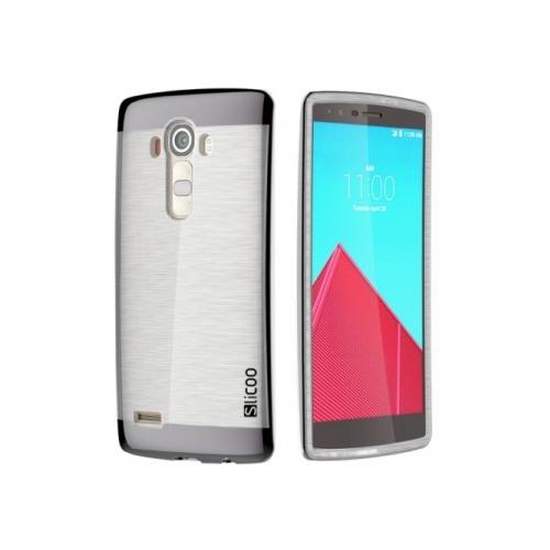 Slicoo LG G4 Metalik Kenarlı Şeffaf Silikon Kılıf