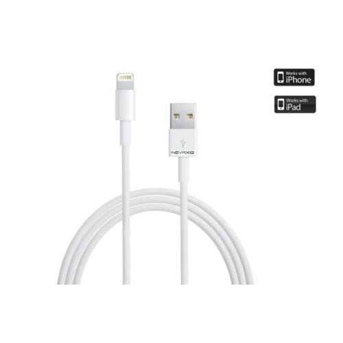 Inovaxis Güvenlik Etiketli Lightning Data ve Şarj Kablosu (iPhone 5s / 6s/ 7 / Plus / iPad)