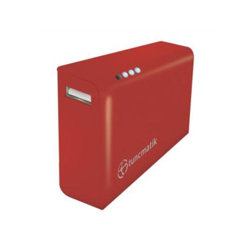 Tunçmatik Powerbank Tuncmatık Tsk6115 4000Mah (Kırmızı) Lı-Ion Akü+Lıg