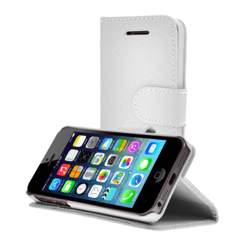 CaseUp Apple iPhone 5 5S Kılıf Cüzdanlı Suni Deri Kırılmaz Cam