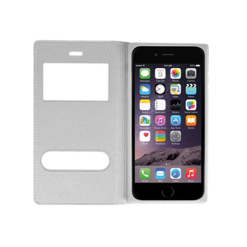 CaseUp Apple iPhone 6 Kılıf Kapaklı Çift Pencereli Kırılmaz Cam