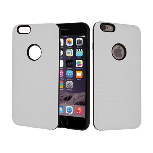 CaseUp Apple iPhone 6S Kılıf Çift Katman Korumalı Çizgili Kırılmaz Cam
