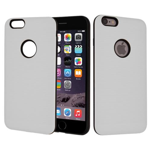 CaseUp Apple iPhone 6S Plus Kılıf Çift Katman Korumalı Çizgili Kırılmaz Cam