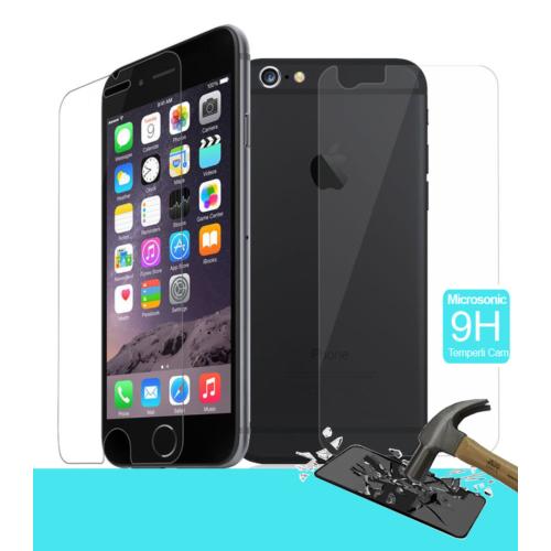 CaseUp Full Body Temperli Cam Ekran koruyucu iPhone 6S Plus (5.5'') Ön + Arka