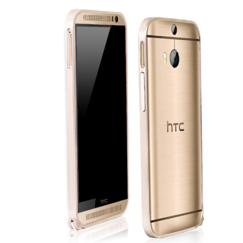 CaseUp HTC ONE M8s Ultra Thin Metal Bumper Kılıf Kırılmaz Cam