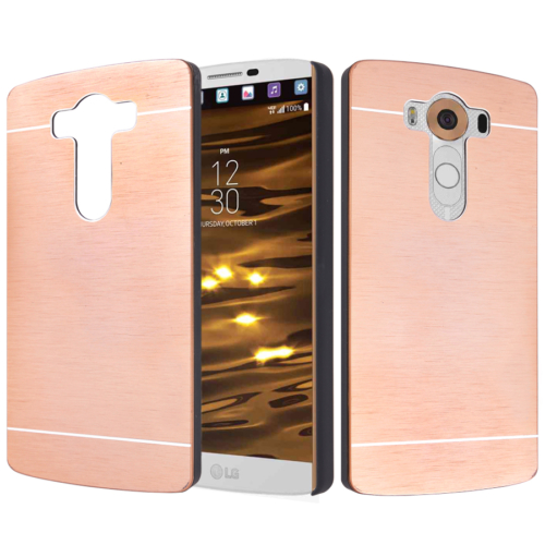 CaseUp LG V10 Kılıf Metal Korumalı Kırılmaz Cam