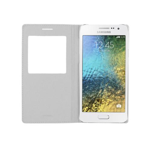 CaseUp Samsung Galaxy E5 Kılıf Kapaklı Pencereli Kırılmaz Cam