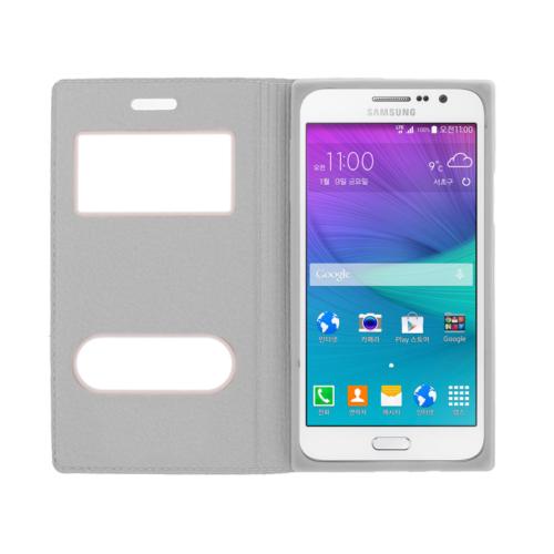 CaseUp Samsung Galaxy Grand Max Kılıf Kapaklı Çift Pencereli Kırılmaz Cam