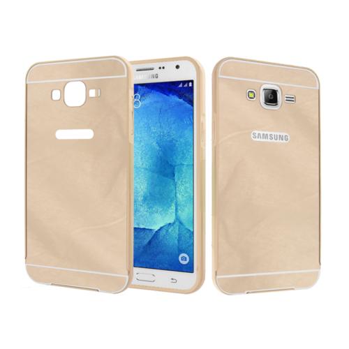 CaseUp Samsung Galaxy J2 Kılıf Metal Çerçeveli Aynalı Kırılmaz Cam