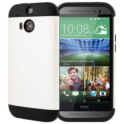 CaseUp Slim Fit Dual Layer Ar HTC One M8s Kılıf Kırılmaz Cam
