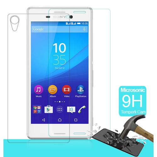 CaseUp Sony Xperia M4 Aqua Temperli Cam Ekran koruyucu Ön + Arka