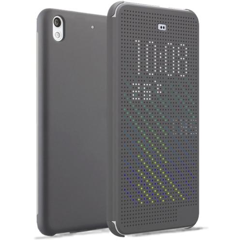 CaseUp View Cover Dot Delux kapaklı HTC Desire 626 kılıf Akıllı Modlu Kırılmaz Cam