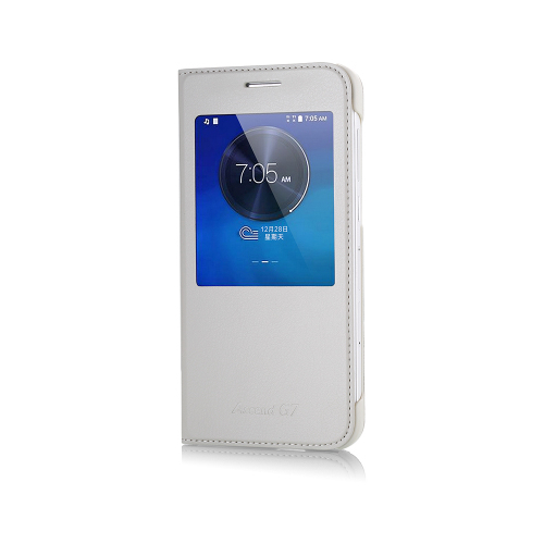 CaseUp View Slim kapaklı Deri Huawei Ascend G7 kılıf Kırılmaz Cam