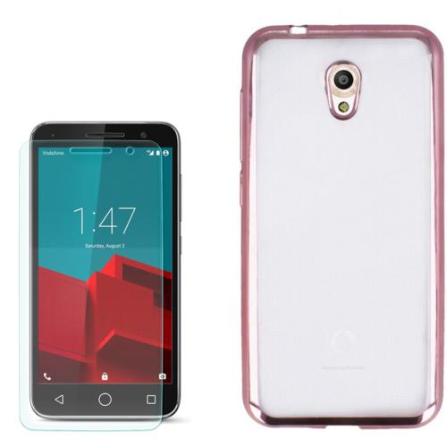Gpack Vodafone Smart Style 7 Kılıf Lazer Silikon 0.3Mm + Kırılmaz Cam