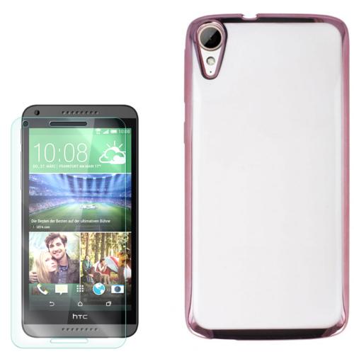 Gpack Htc Desire 828 Kılıf Lazer Silikon + Kırılmaz Cam