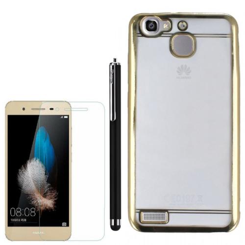Gpack Huawei Gr3 Kılıf Lazer Silikon +Kalem+ Kırılmaz Cam