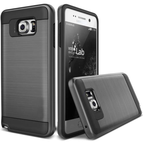 Case 4U Samsung Galaxy Note 5 Kılıf Slim Heavy Duty Verus Siyah