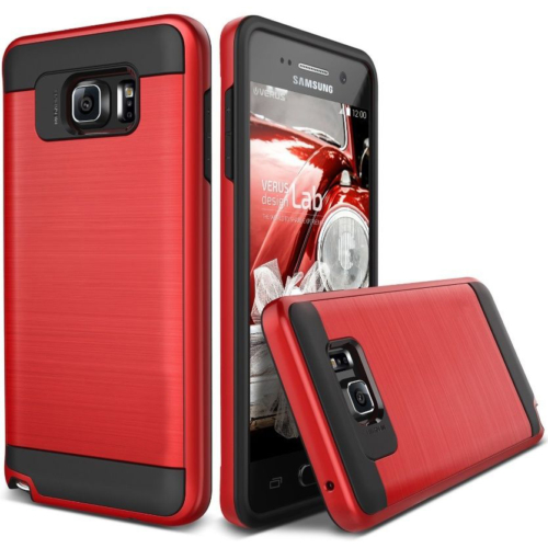 Case 4U Samsung Galaxy Note 5 Kılıf Slim Heavy Duty Verus Kırmızı