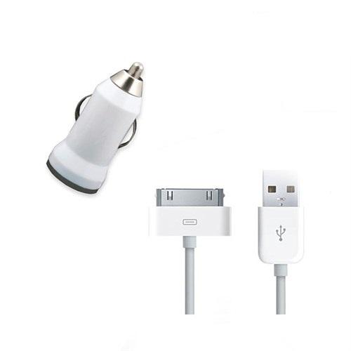 Case 4U Apple İphone 3S Araç Şarj Cihazı+Şarj Ve Data Kablosu