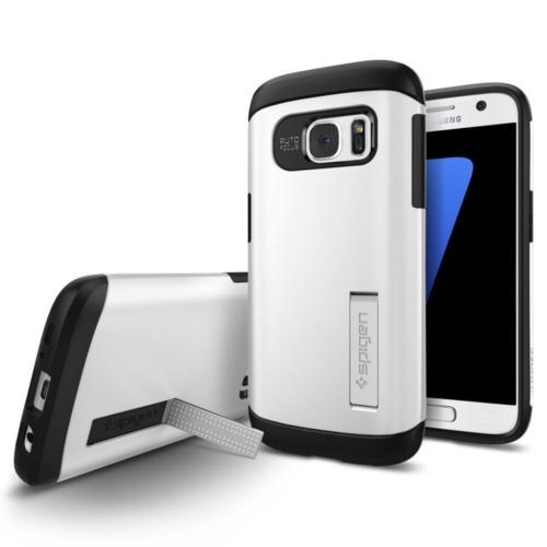 Spigen Samsung Galaxy S7 Kılıf Slim Armor - Shimmery White - 555CS20013