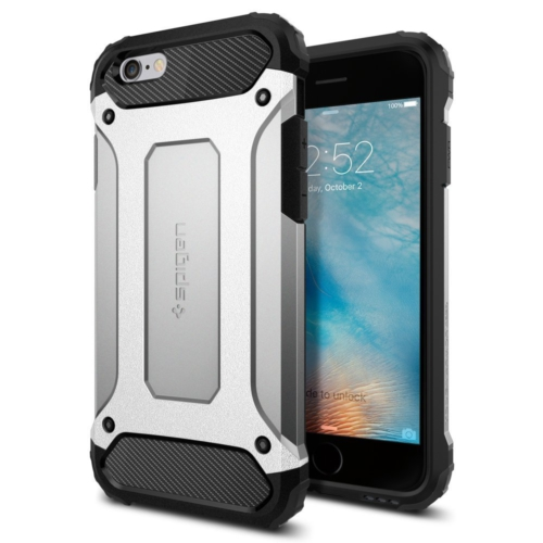 Spigen Apple iPhone 6S Kılıf Tough Armor Tech Satin Silver - 11744