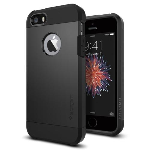 Spigen Apple iPhone Se/5S/5 Kılıf Tough Armor Black Darbelere Karşı Koruma
