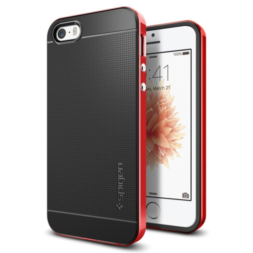 Spigen iPhone Se/5S/5 Kılıf Neo Hybrid Dante Red