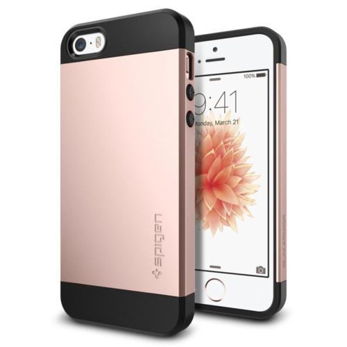 Spigen Apple iPhone Se/5S/5 Kılıf Slim Armor Rose Gold