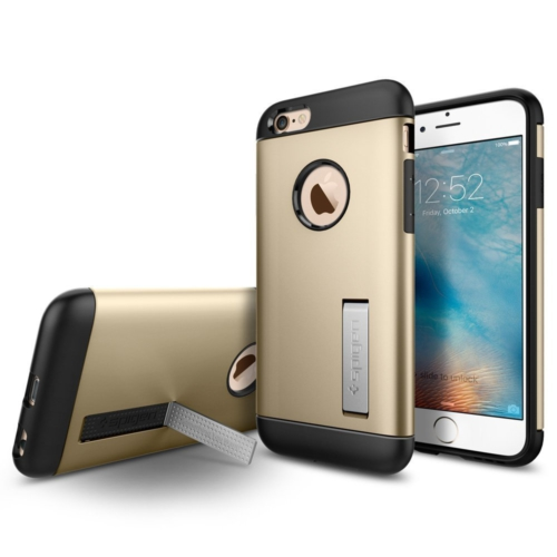 Spigen Sgp iPhone 6s Kılıf Slim Armor Champagne Gold-SGP11607