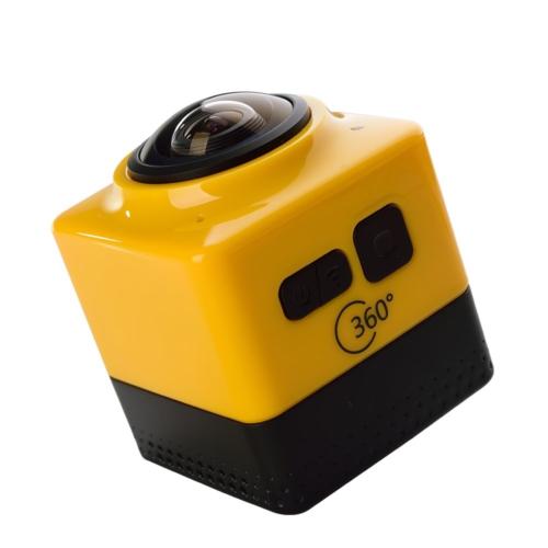 Case 4U 360 Derece Geniş Açılı Panoramik WiFi Aksiyon Kamera (Gri)