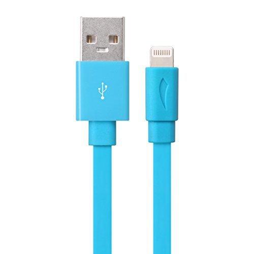 Case 4U Apple iPhone 5/5c/5s/6/6s/6 Plus/6s Plus/iPad Lightning Usb Data ve Şarj Kablosu Mavi