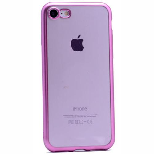 Case 4U Apple İphone 6 Plus Lazer Kaplama Silikon Kılıf Pembe