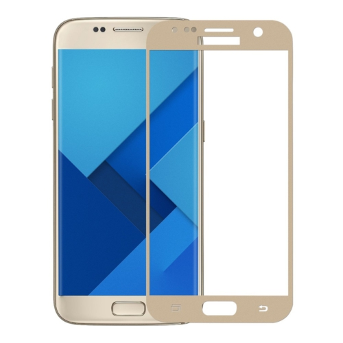 Case 4U Samsung Galaxy S7 3D Kavisli Kırılmaz Cam Ekran Koruyucu Altın