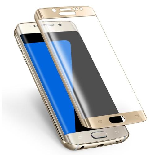 Case 4U Samsung Galaxy S7 Edge 3D Kavisli Kırılmaz Cam Ekran Koruyucu Altın