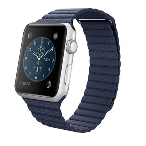 Case 4U Apple Watch 42 Mm Deri Loop Kayış Lacivert