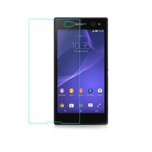 Case 4U Sony Xperia C3 Kırılmaz Cam Ekran Koruyucu