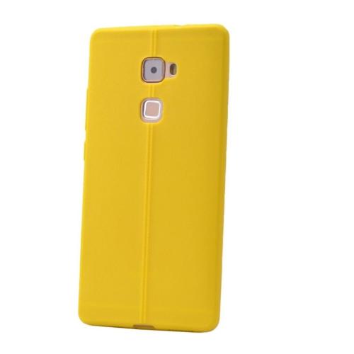 Case 4U Huawei Mate S Desenli Silikon Kılıf Sarı
