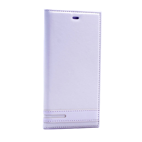 Case 4U Samsung A710 Galaxy A7 Gizli Mıknatıslı Kapaklı Kılıf Beyaz