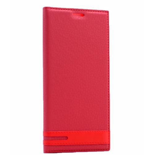 Case 4u Samsung Galaxy S7 Gizli Mıknatıslı Kapaklı Kılıf Kırmızı
