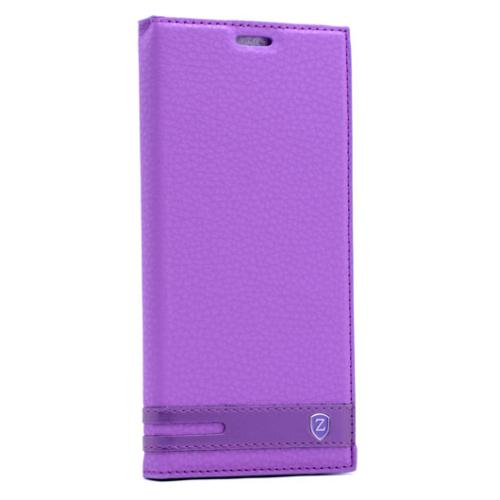 Case 4u Samsung Galaxy S7 Gizli Mıknatıslı Kapaklı Kılıf Mor