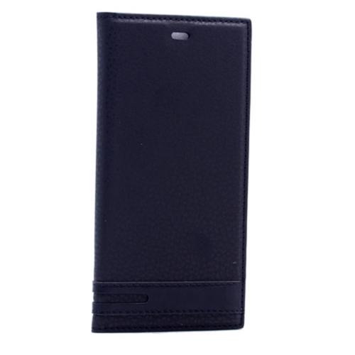 Case 4u Samsung Galaxy S7 Edge Gizli Mıknatıslı Kapaklı Kılıf Siyah