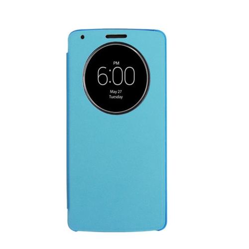 Case 4U LG G3 Flip Cover Mavi ( Uyku Modlu)