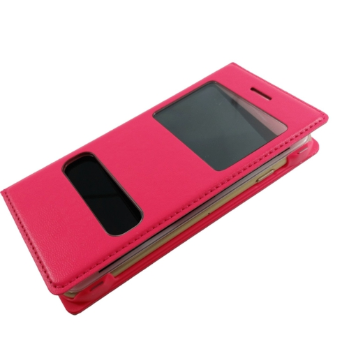 Case 4U Apple iPhone 6 Pencereli Kılıf Pembe