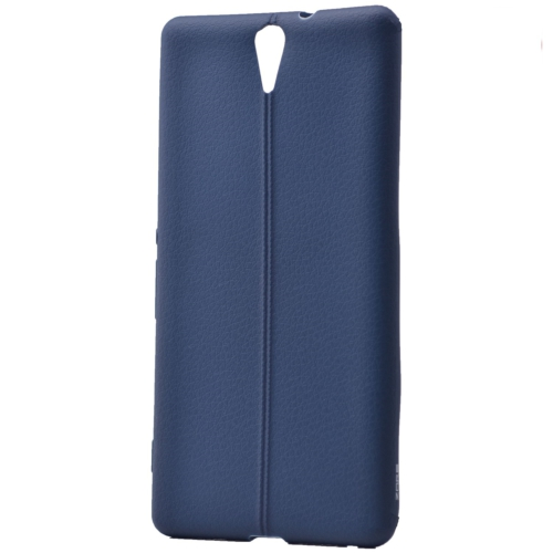 Case 4U Sony Xperia C5 Ultra Desenli Silikon Kılıf Lacivert