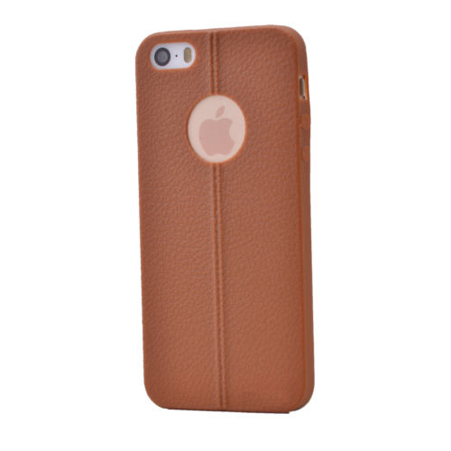 Case 4U Apple İphone 5 Desenli Silikon Kılıf Kahve