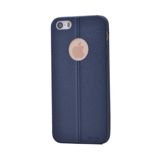 Case 4U Apple İphone 5S Desenli Silikon Kılıf Lacivert