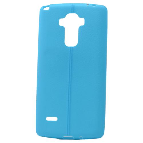 Case 4U Lg G4 Stylus Desenli Silikon Kılıf Mavi