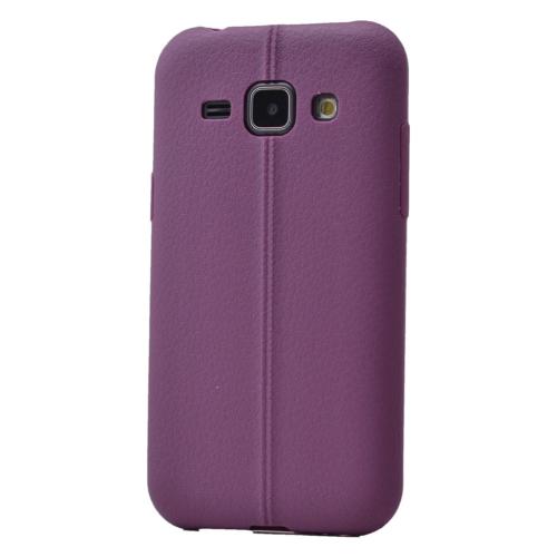 Case 4U Samsung Galaxy J1 Desenli Silikon Kılıf Mor