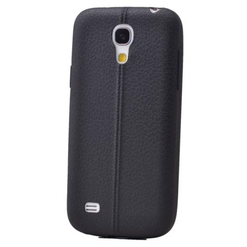 Case 4U Samsung Galaxy S4 Mini Desenli Silikon Kılıf Siyah